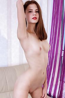 Juliett Lea in Modeta by Albert Varin indoor redhead green eyes slim body shaved pussy tight latest