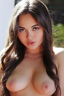 li moon sineza arkisi outdoor brunette brown asian boobies s...