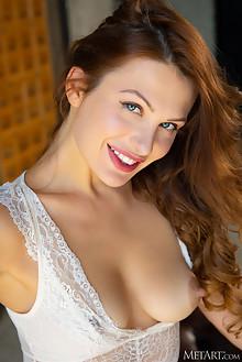 Scarlett Queen in Office Wife by Nudero indoor brunette blue eyes shaved pussy custom