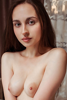 Presenting Logan by Albert Varin indoor brunette green eyes boobies shaved pussy latest