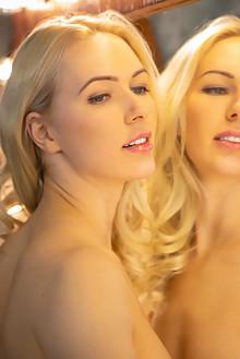 Anna Delos in Studio Light by Nudero indoor blonde blue eyes...