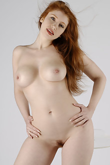 Alixia in Pure White 4 by Philippe Carly indoor redhead boobies hairy trimmed pussy ass