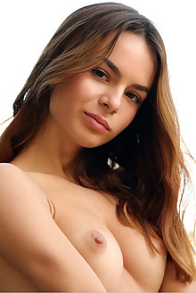 Debora A in Roseti by Rylsky outdoor sunny brunette brown eyes shaved pussy ass latest