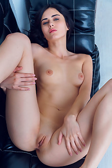 Mona in Frisky by Alex Lynn indoor brunette black hair blue eyes boobies shaved pussy