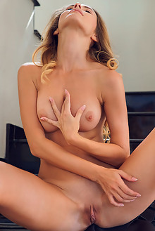 Cara Mell in Skirting Around by Alex Lynn indoor blonde blue eyes boobies shaved ass pussy