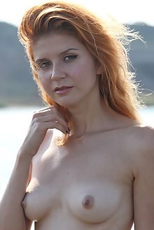 Presenting Viky C by Yann outdoor sunny redhead green eyes shaved latest