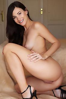 Lauren Crist in Hania by Erro indoor brunette black hair blue eyes boobies shaved pussy custom latest