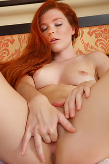 Mia Sollis in Taesa by Don Caravaggio indoor redhead green eyes shaved tight pussy fingering latest
