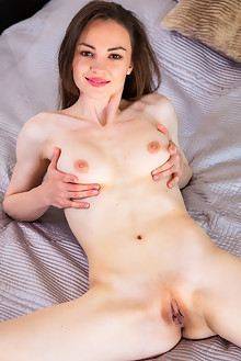 Tanya Grace in Grace in Lace by DeltaGamma indoor brunette brown eyes shaved pussy labia